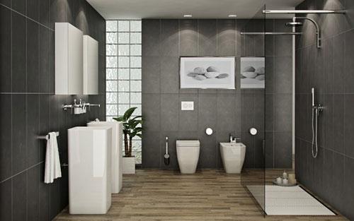 không gian nhà vệ sinh