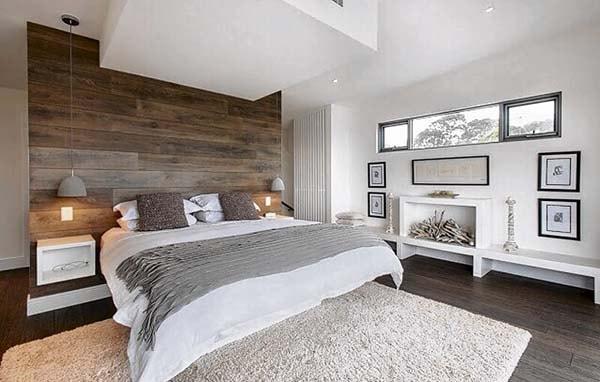 Chọn gạch ốp tường vân gỗ cho phòng ngủ